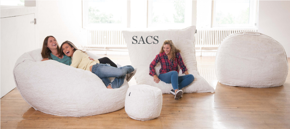 this lovesac ~pillow chair~ is as big as a bed and you'll wait one