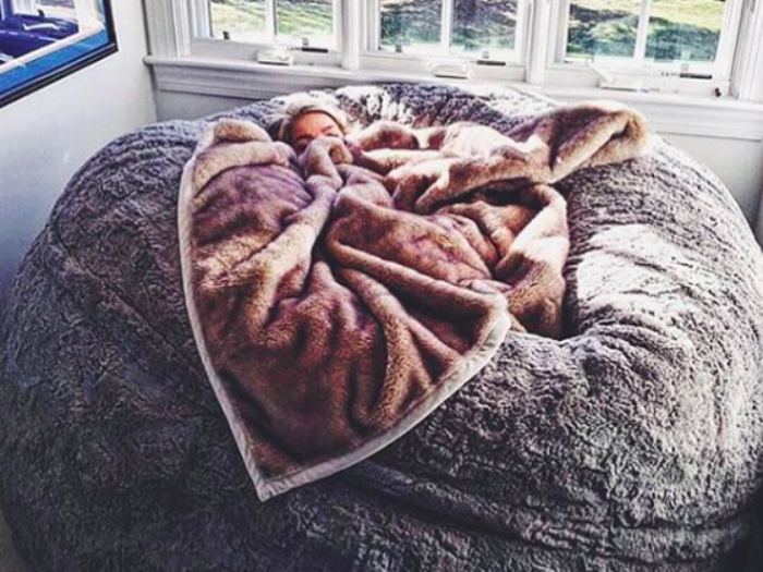 This Lovesac ~pillow chair~ is as big as a bed and youu0026#39;ll wait one immediately