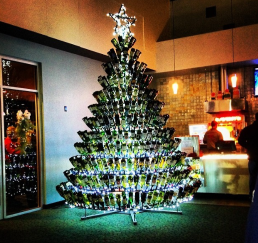 wine bottle christmas trees are a thing and theyre breathtaking