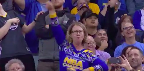 This mom's dance moves at an NBA game are the best thing you'll see all day