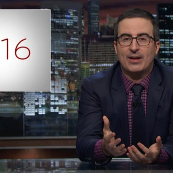 John Oliver flipped off 2016 with some of our favorite celebs, and we're totally cracking up