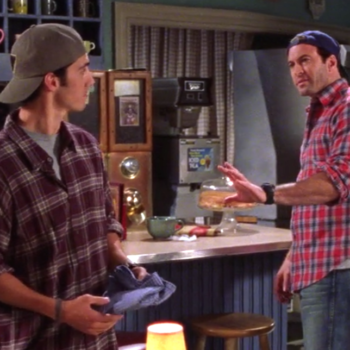 """You'll fit right in at Luke's Diner with this custom """"Gilmore Girls"""" flannel shirt"""