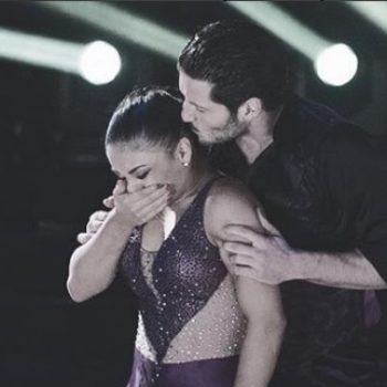 "Laurie Hernandez broke down crying on last night's ""Dancing with the Stars,"" and our hearts go out"