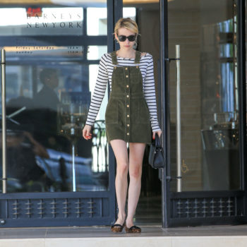 Master the overall dress trend à la Emma Roberts