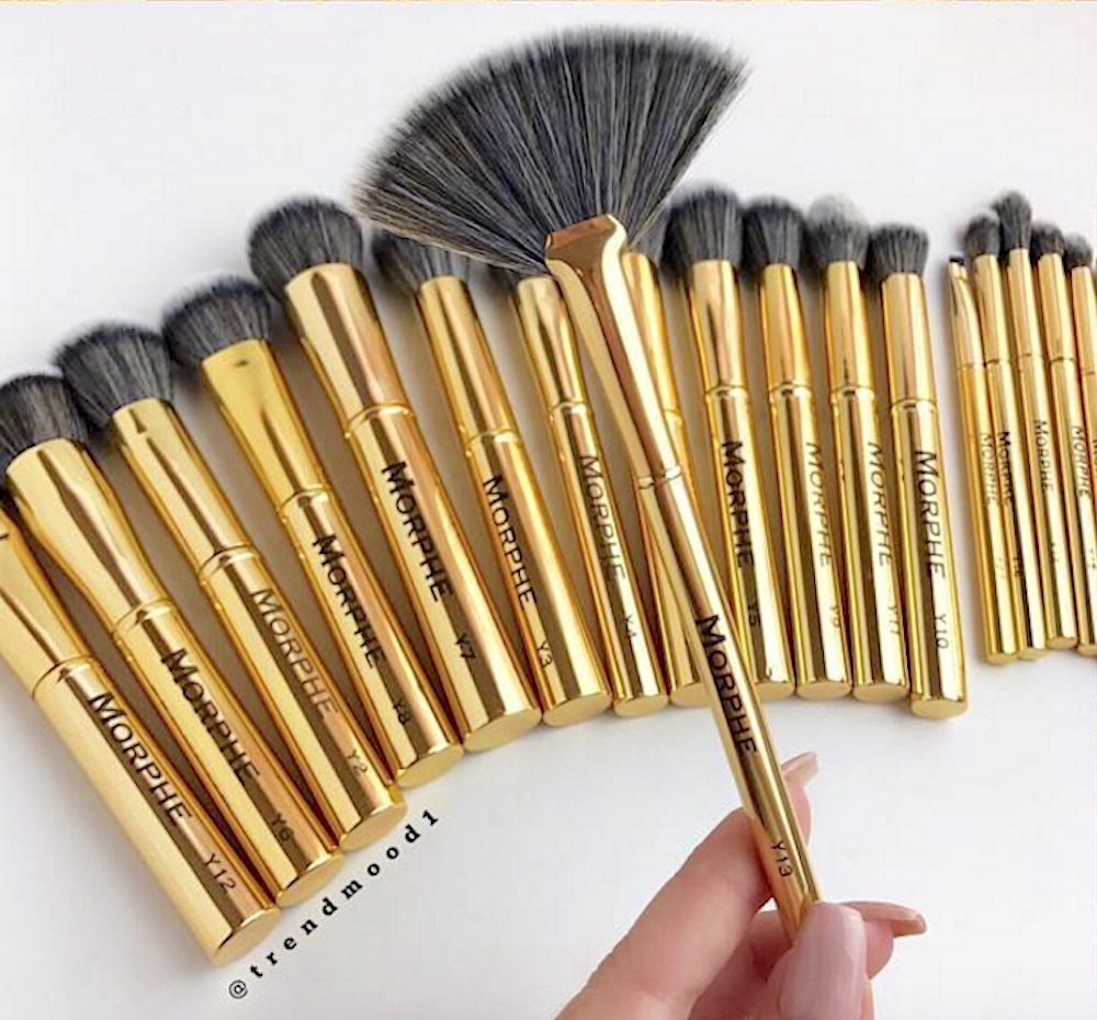 morphe brushes. we are dying to get our hands on morphe brushes\u0027s ultra-glam gold brush collection brushes
