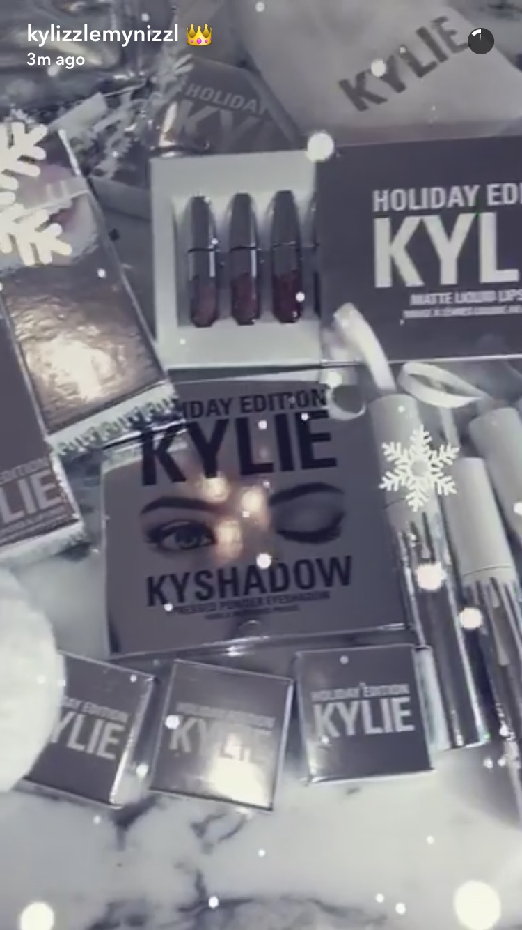 kylie jenner reveals her upcoming kylie cosmetics holiday collection and were going crazy