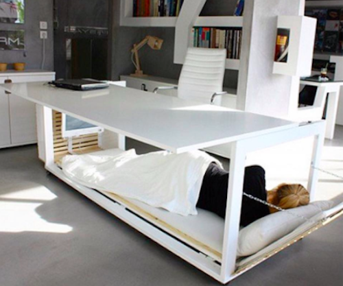 This nap desk is the greatest piece of furniture you will ever have in your work space