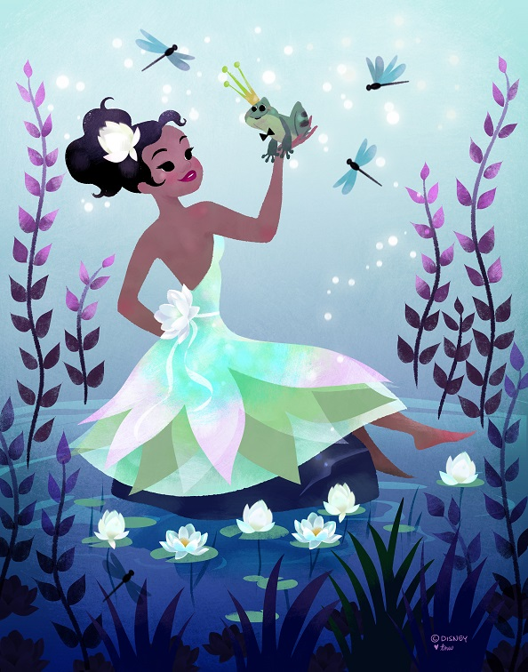 These never before seen images of disneys princess tiana are this magical and dreamy princess tiana by tara nicole whitaker altavistaventures Choice Image