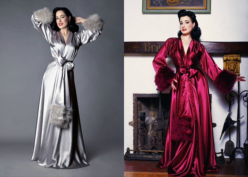 Let S All Swoon Over The Beauty That Is Dita Von Teese Vine. Dita Von Teese  Lamarr Robe 697b27c47
