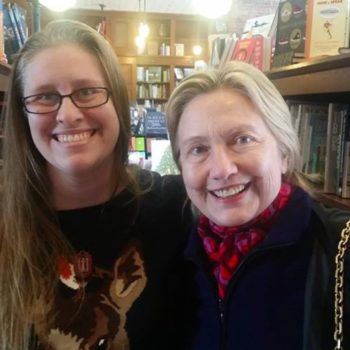 Hillary Clinton was spotted in a bookstore, and that makes so much sense to us