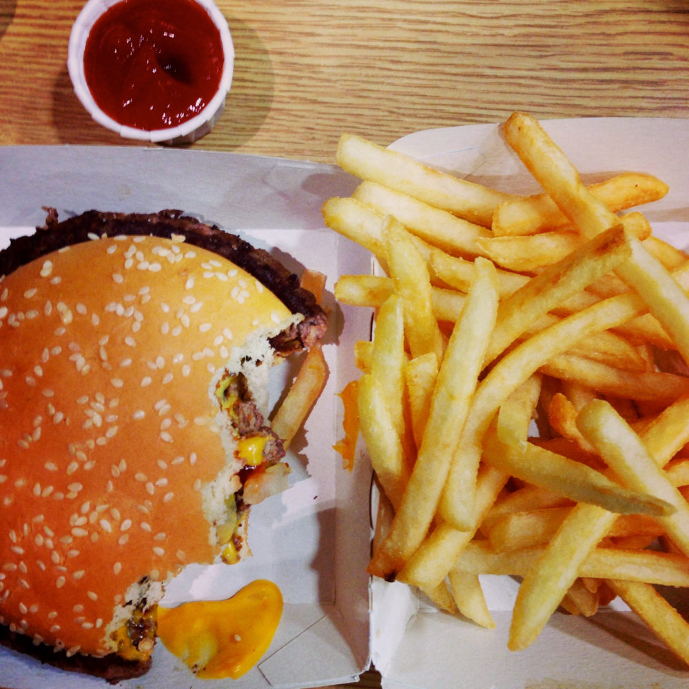 Huh, so *this* is what eating 10,000 calories worth of McDonald's looks like