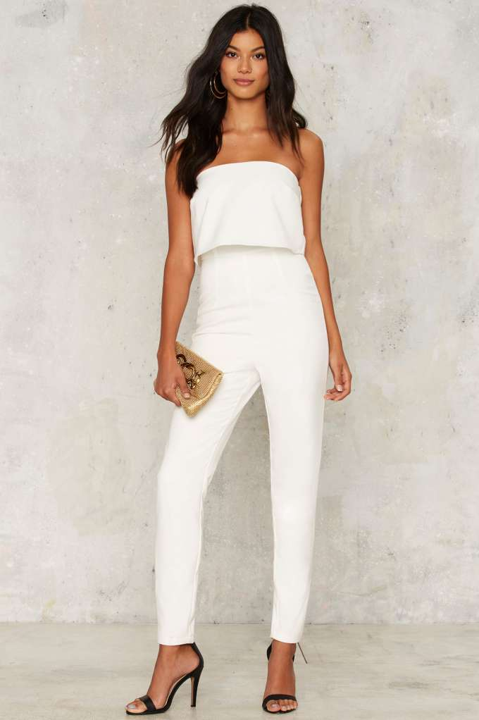 8d6cad7810b Nasty Gal. This pristine white jumpsuit immediately screams out the ...