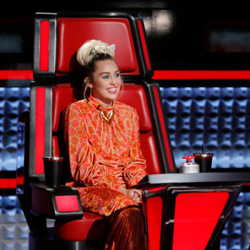 Miley Cyrus looks like an ice princess in this shimmering silver dress