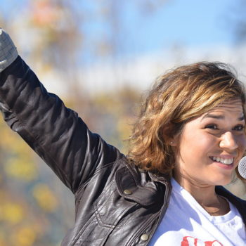 Lena Dunham is serious about America Ferrera running for President one day and her future campaign slogan is great!