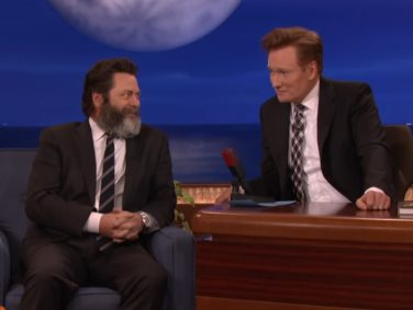 Nick Offerman wrote a book that includes an erotic cartoon of ...