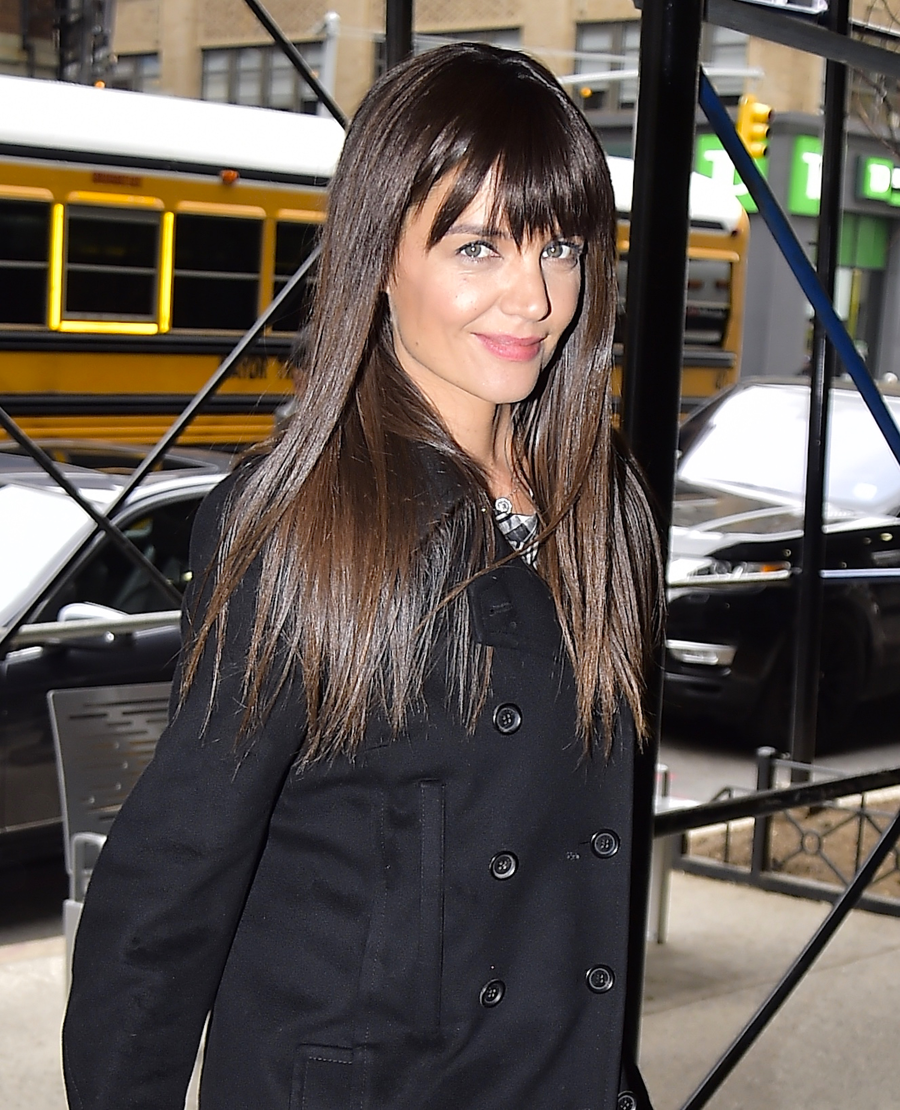 Katie Holmes Has Bangs And Tbh This Look Was Made For
