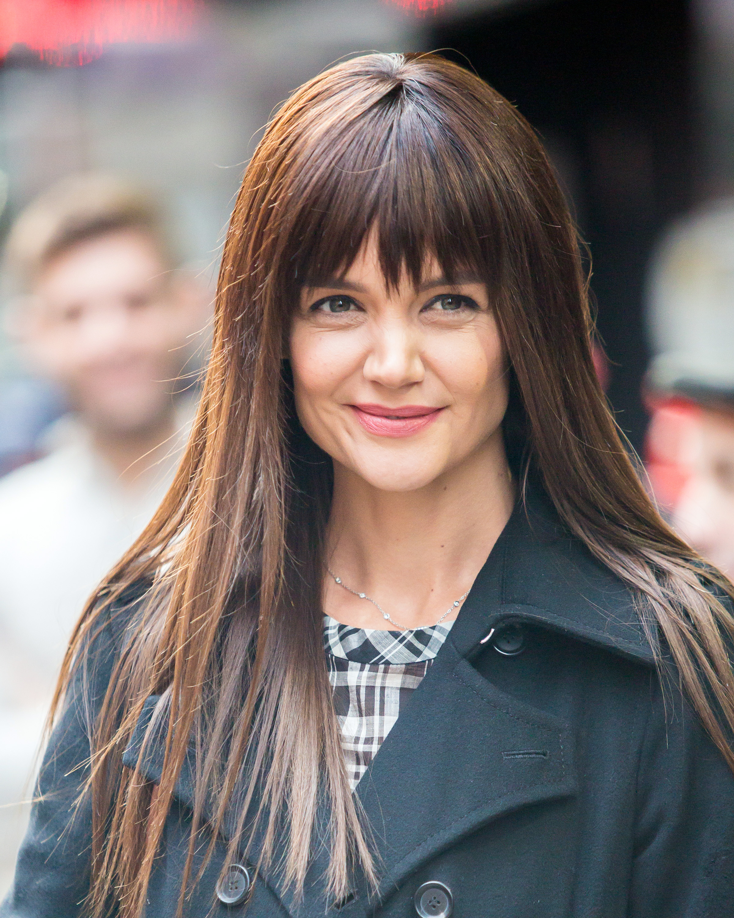 Katie Holmes Has Bangs And Tbh This Look Was Made For Her