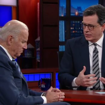 """Stephen Colbert and Joe Biden held a """"family meeting"""" on """"The Late Show,"""" and it was everything we could have hoped for"""