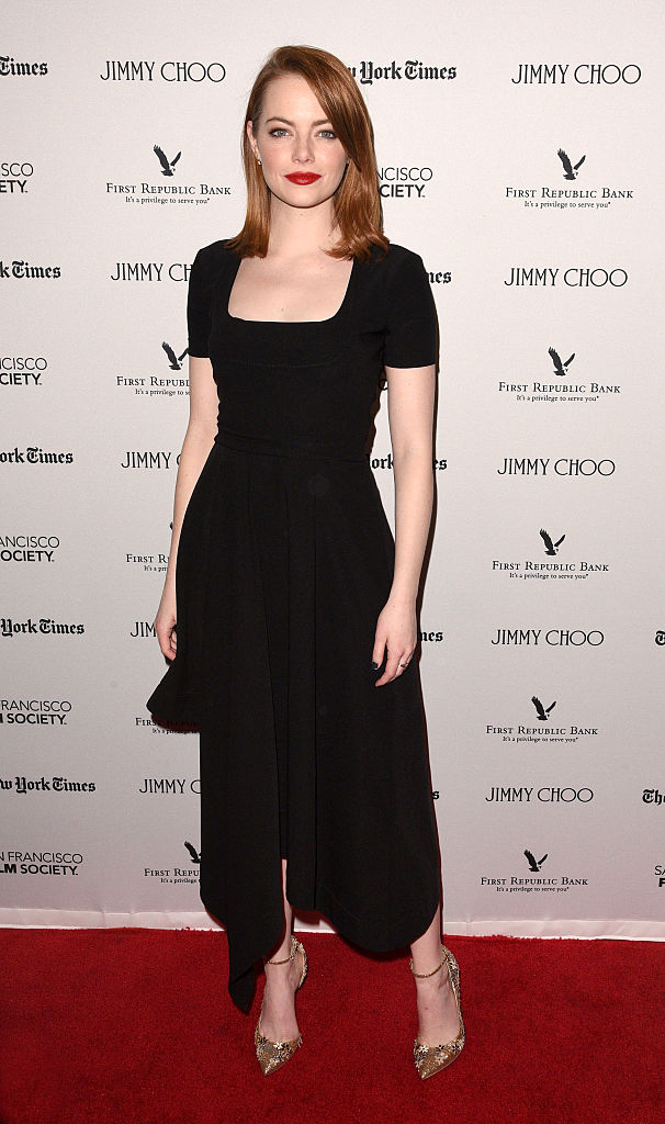 The Shoes Emma Stone Wore With A Little Black Dress Are Too Good For