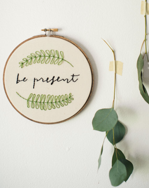be present embroidery