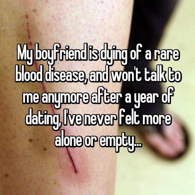 Dating someone with a disease
