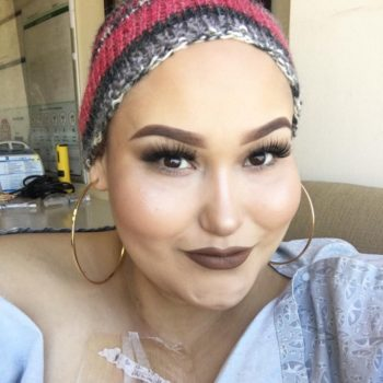 This lymphoma patient shows off her fierce makeup skills during her chemo treatments