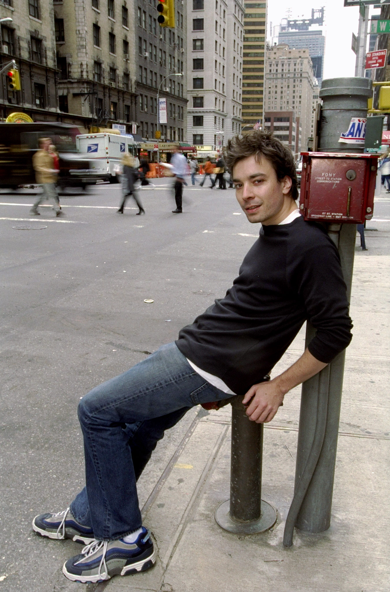 Comedian and Saturday Night Live cast member Jimmy Fallon. H