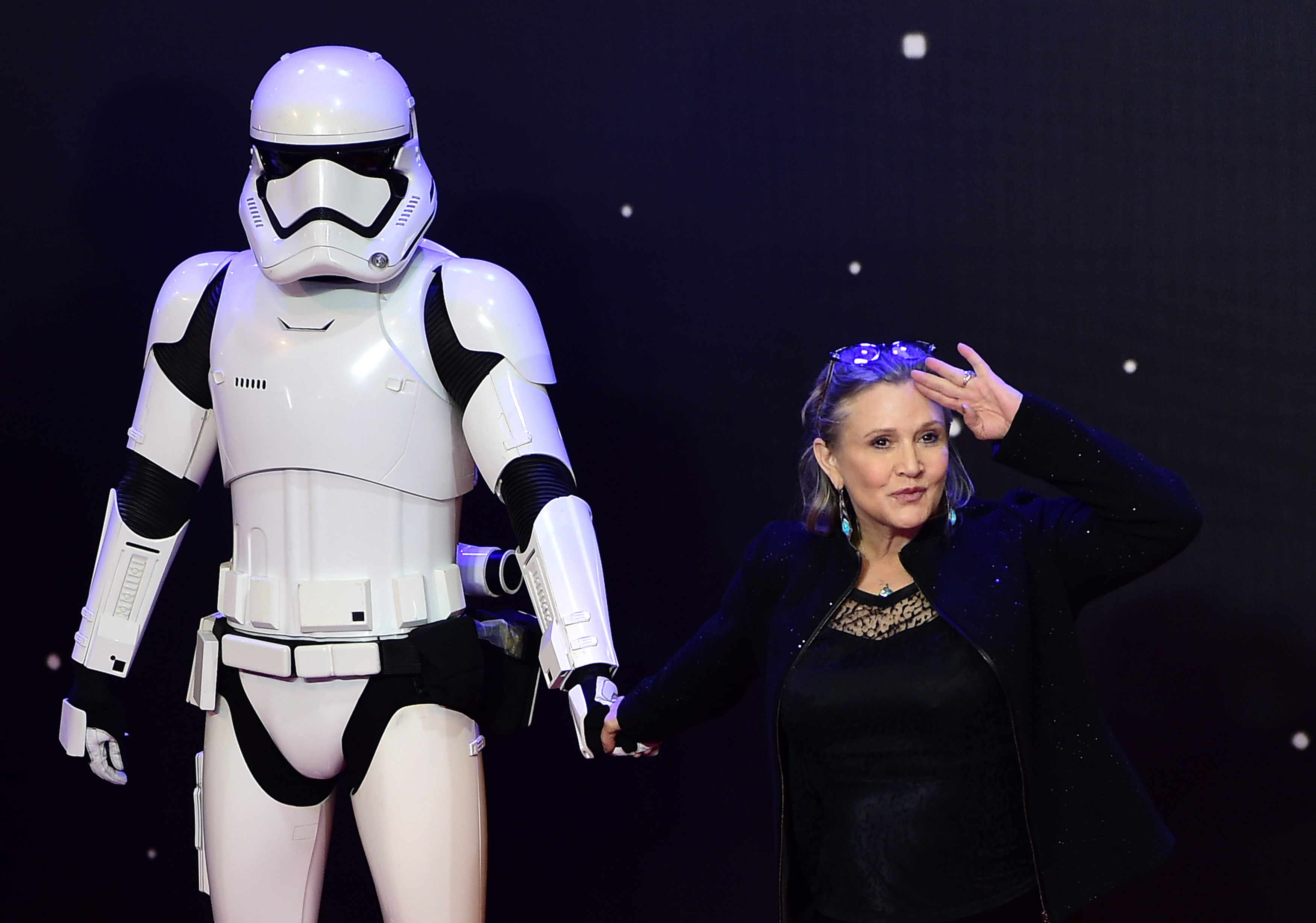 An astronaut just honored Carrie Fisher and women in space in the best way