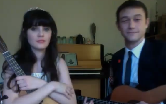 "Zooey Deschanel and Joseph Gordon-Levitt sing ""What Are You Doing New Year's Eve?"""