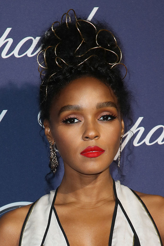 Janelle Mones Gold Wrapped Updo Is The Modern Goddess Style We
