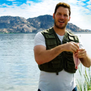 Watching Chris Pratt clean and gut a fish is exactly what you need this Wednesday morning