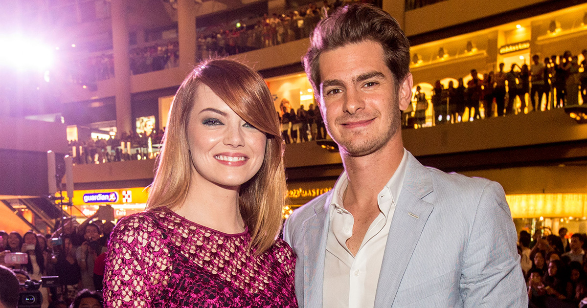Andrew Garfield and Emma Stone got high at Disneyland for his birthday and LOL
