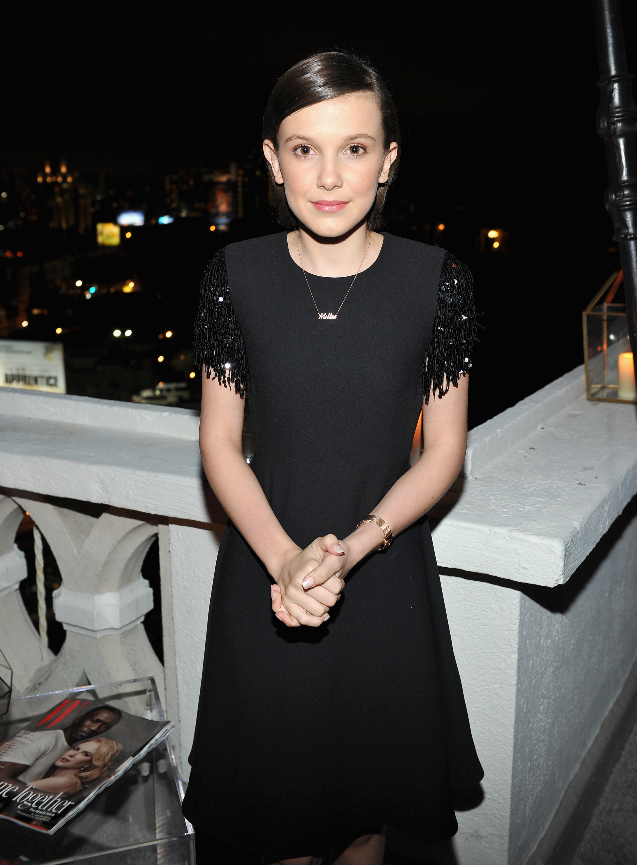 Millie Bobby Brown Wore A Flapper Girl Dress With Glitter