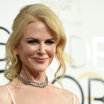 Nicole Kidman looks like Cinderella in this shimmering gown at the Golden Globes