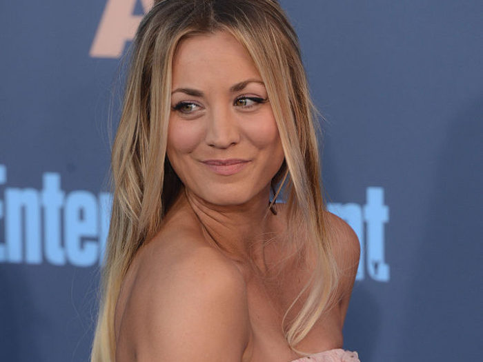 Kaley Cuoco wore a plunging dress last night, made silly ... Pictures By Just Jill Instagram