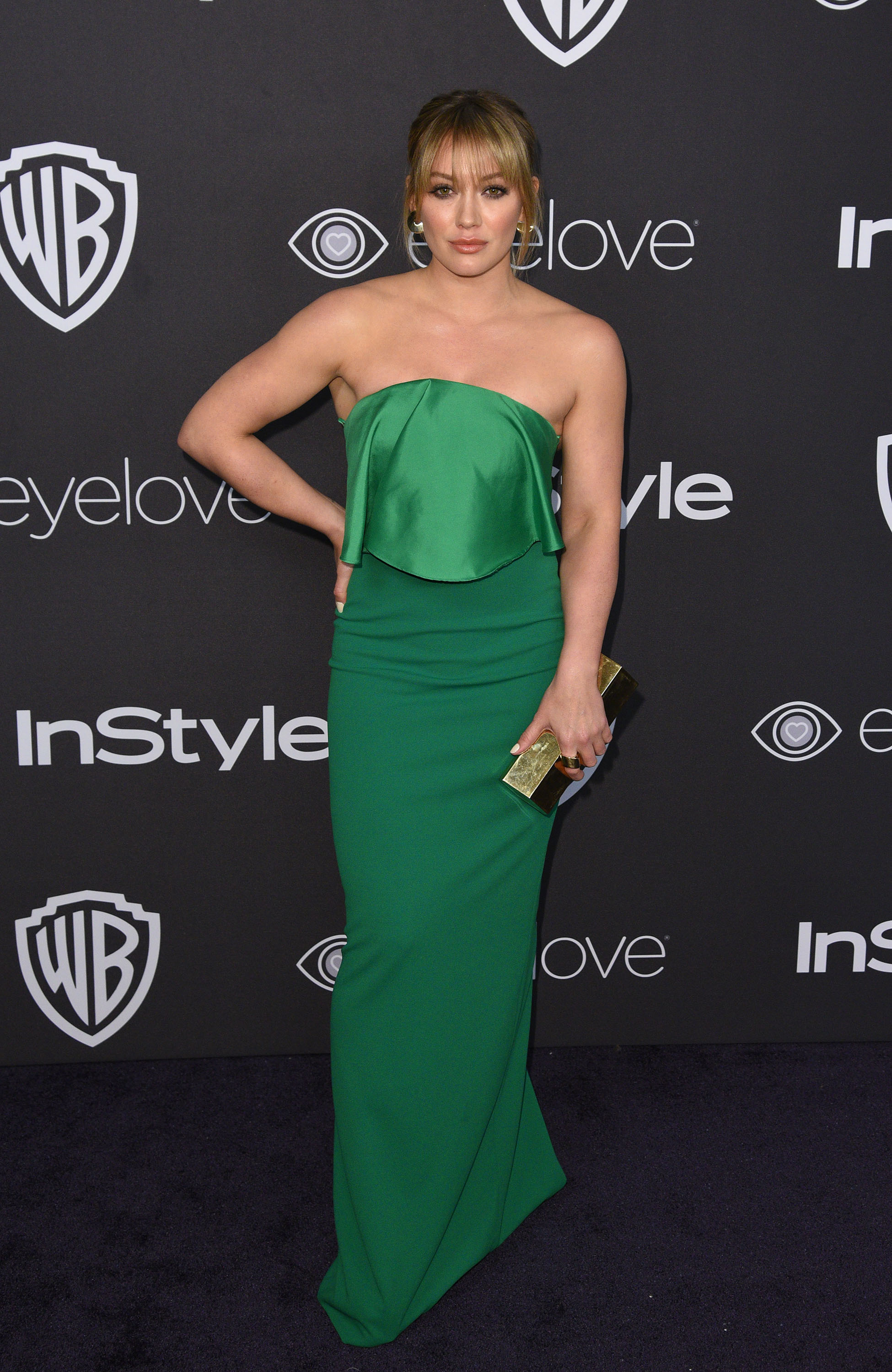 gettyimages emerald city looked fashion hilary of globes golden duff queen at after like the party