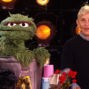 """Oscar The Grouch appeared on """"The Ellen DeGeneres Show"""" to talk about kindness, and it was the best thing ever"""