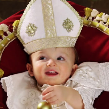 "We're cracking up over this Colbert sketch about a ""Young Pope"" spin-off"