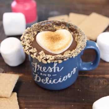 Campfire S'mores Hot Chocolate