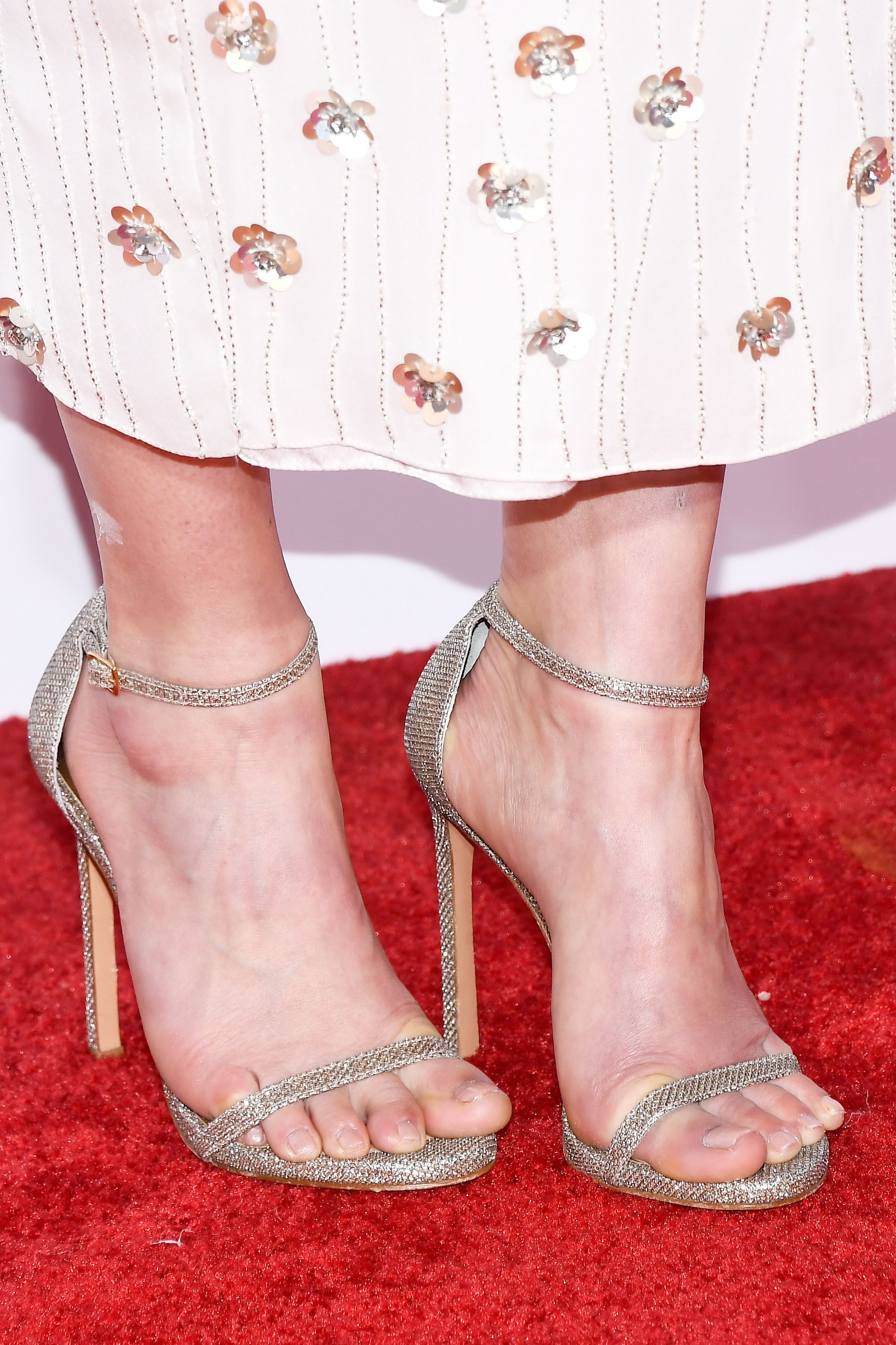 Candace Cameron Bure Wore A White Bejeweled Gown To The