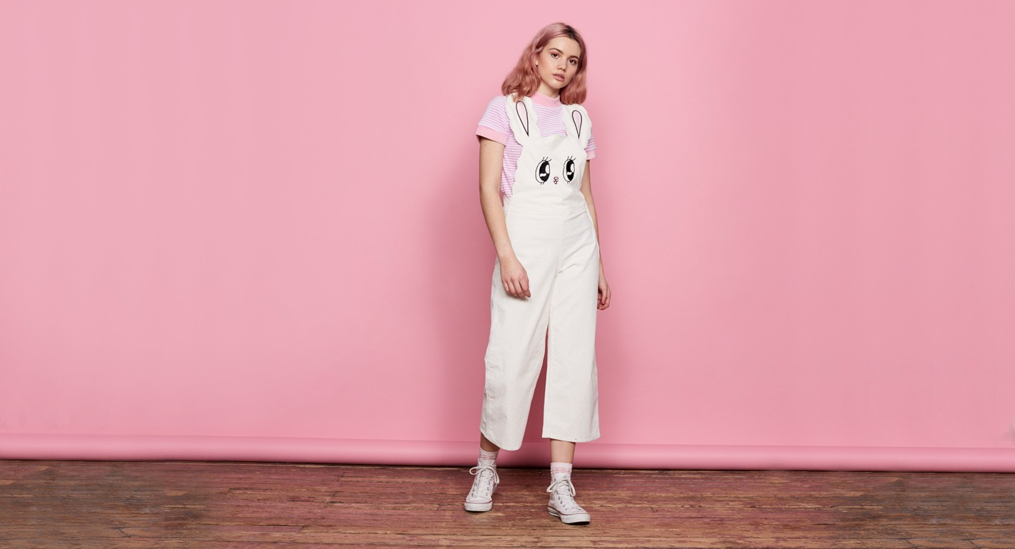 f1713df49 This Lazy Oaf x Esther Kim collab is the stuff of your pastel-pink '90s  tracksuit dreams - HelloGiggles