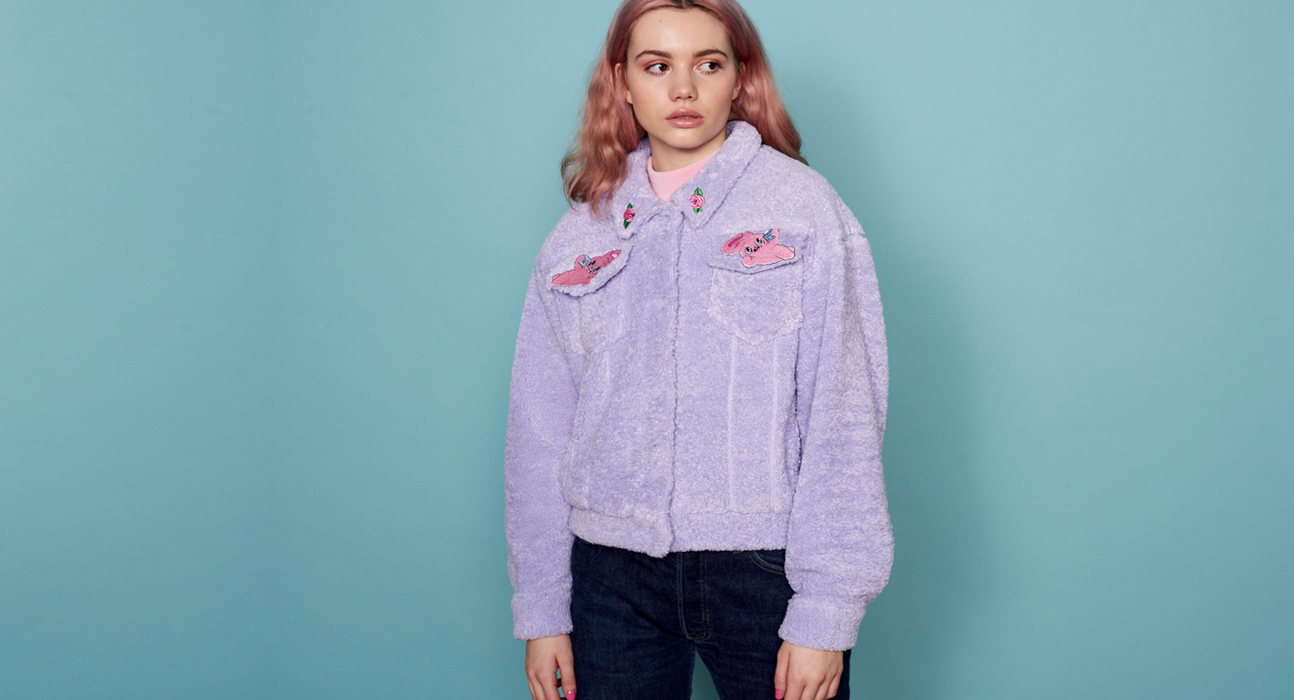 3ba086d015 This Lazy Oaf x Esther Kim collab is the stuff of your pastel-pink  90s  tracksuit dreams - HelloGiggles