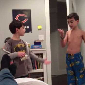 This kid asked his dad for permission to swear, and we can *so* relate