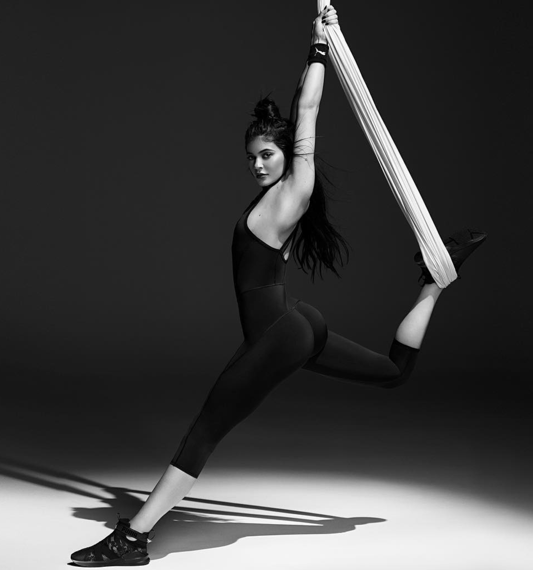 fd98019bd254a0 Puma s ballet-themed collection starring Kylie Jenner takes athleisure to  Swan Lake levels