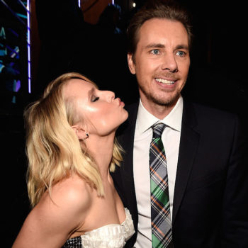We are giving Kristen Bell and Dax Shepard a Prom King and Queen crown for their outfits alone