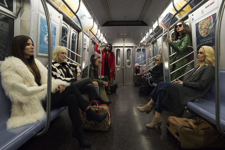 "The first ""Ocean's 8"" poster is here, and it's so beautiful it belongs in a museum"