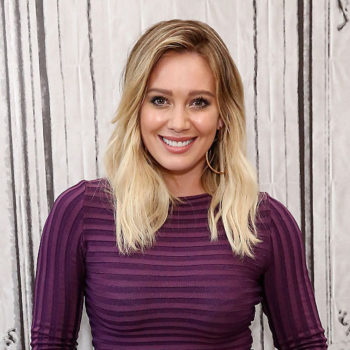 Hilary Duff's dress could easily be the first sign of spring