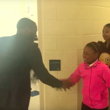 This teacher greets every one of his students with personalized handshakes everyday, is the teacher we wish we had