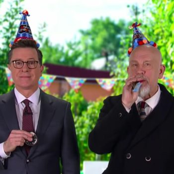John Malkovich and Stephen Colbert want to make your children's birthday party unforgettable