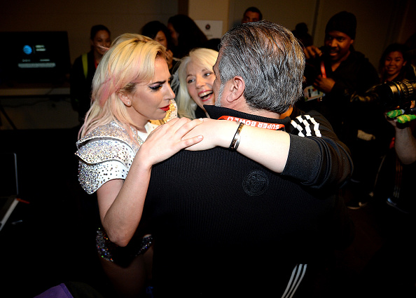 These Photos Of Lady Gaga Hugging Her Family And Crying